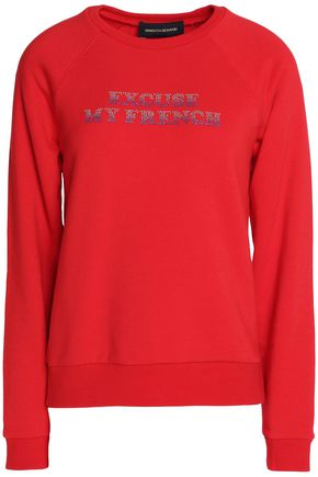 VANESSA SEWARD Crystal-embellished cotton-blend sweatshirt