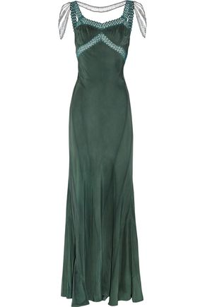 ERICKSON BEAMON Embellished silk gown