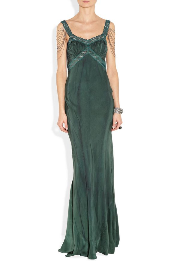 Embellished silk gown | ERICKSON BEAMON | Sale up to 70% off | THE OUTNET