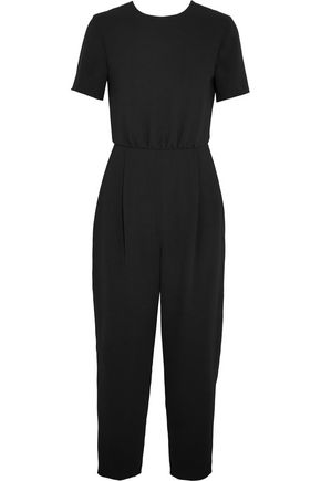 MAX MARA Cropped open-back cady jumpsuit