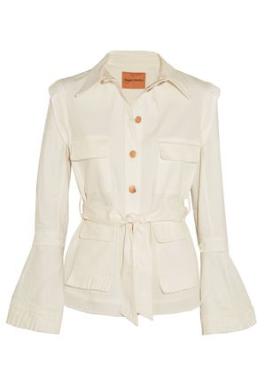 MAGGIE MARILYN George II pleated denim jacket
