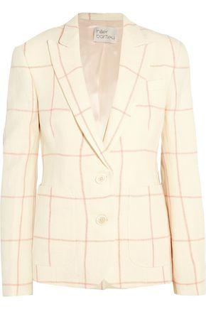 HILLIER BARTLEY Checked linen blazer
