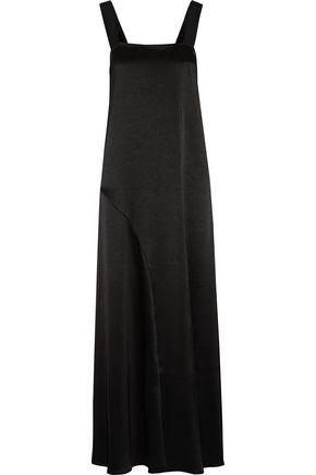 GEORGIA ALICE Slow Wave grosgrain-trimmed satin-crepe maxi dress