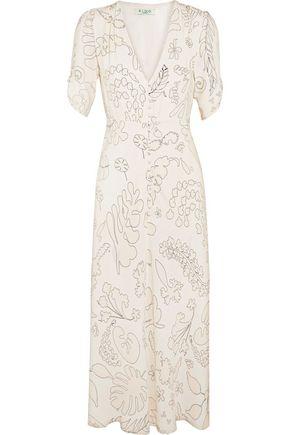 RIXO London Gwyneth printed crepe midi dress