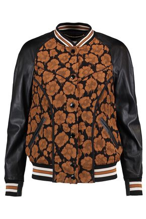 COACH Wild Beast cloqué and leather jacket
