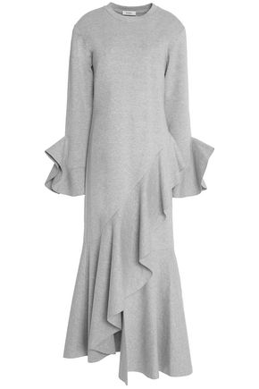 GOEN.J Ruffled asymmetric cotton-cady maxi dress