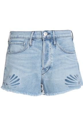 3x1 Two-tone cotton denim shorts