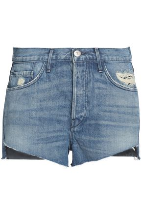 3x1 Faded distressed denim shorts