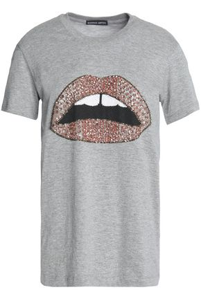 MARKUS LUPFER Embellished cotton-jersey T-shirt