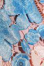 MARCHESA NOTTE Embroidered guipure lace midi dress
