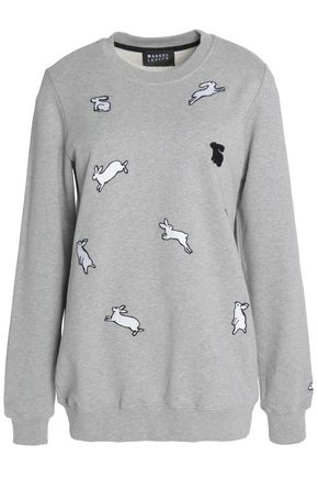 MARKUS LUPFER Embroidered cotton-jersey sweatshirt