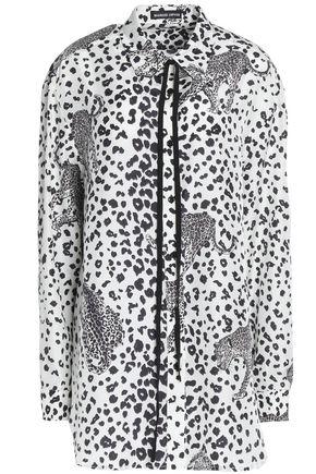 MARKUS LUPFER Leopard-print silk crepe de chine shirt