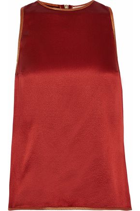 ROKSANDA Textured silk-satin top