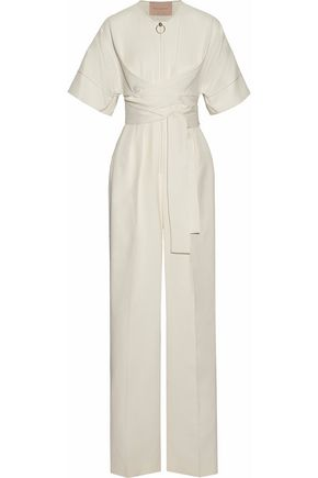 ROKSANDA Belted cutout cotton-blend jumpsuit