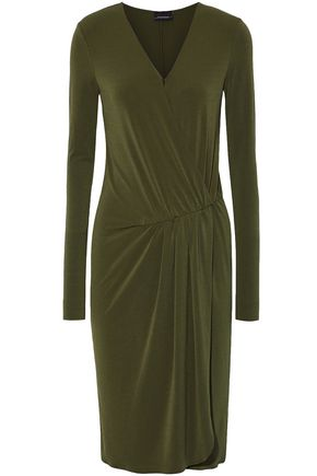 BY MALENE BIRGER Wrap-effect gathered stretch-crepe dress