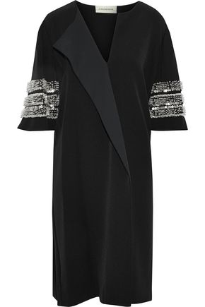 BY MALENE BIRGER Sequin-embellished cady dress
