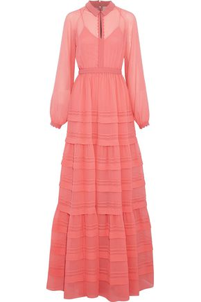 ROKSANDA Tiered gingham seersucker maxi dress