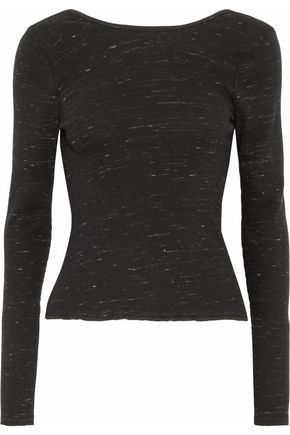 RAG & BONE/JEAN Mélange ribbed cotton-blend sweater