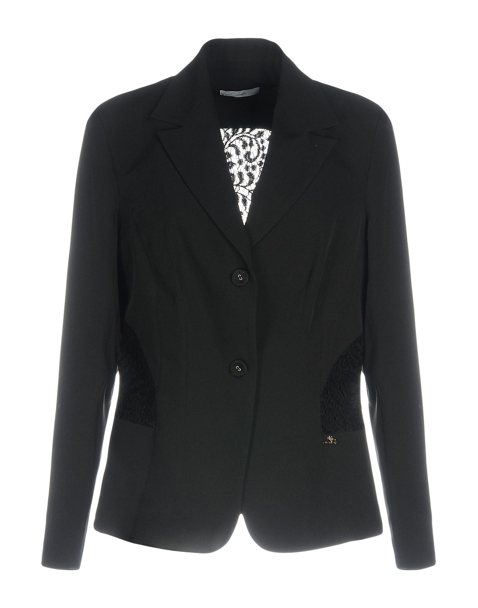 《期間限定セール中》LIZALU' DIAMOND レディース テーラードジャケット ブラック 44 ポリエステル 86% / ポリウレタン 14%