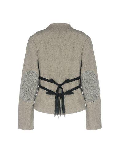 Фото 2 - Женский пиджак  серого цвета
