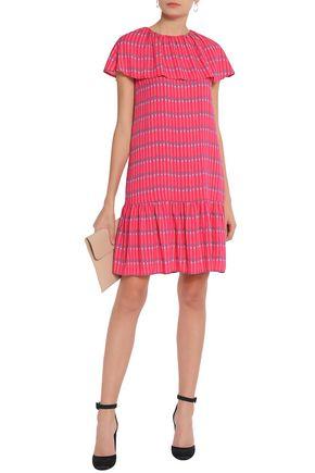 VANESSA SEWARD Ruffled printed crepe de chine dress