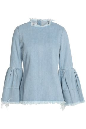 MARQUES ' ALMEIDA Frayed chambray top