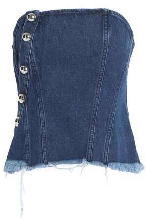 MARQUES ' ALMEIDA Strapless studded denim top