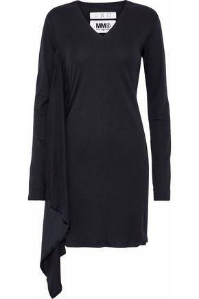 MM6 MAISON MARGIELA Draped cotton-jersey mini dress