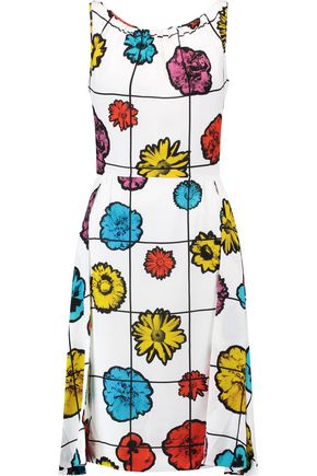 MOSCHINO Printed crepe dress