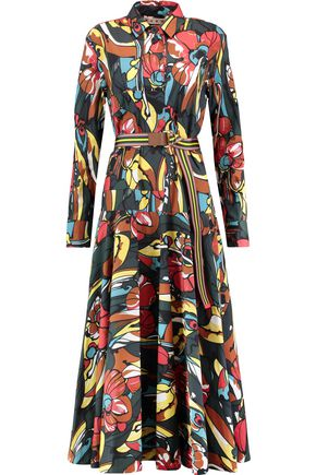 MARNI Printed cotton-poplin shirt dress