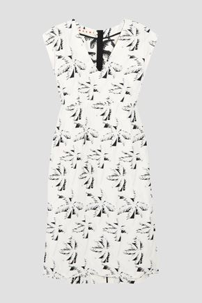 MARNI Crepe-jacquard dress