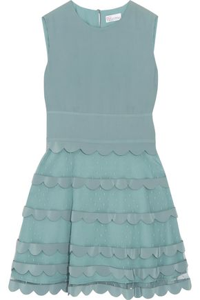 REDValentino Point d'esprit crepe de chine mini dress