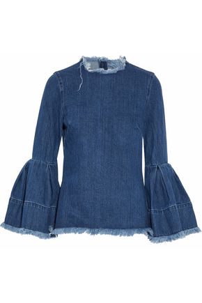 MARQUES ' ALMEIDA Frayed denim top