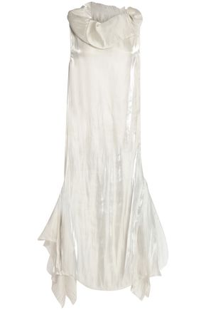 MARQUES ' ALMEIDA Asymmetric paneled faille gown