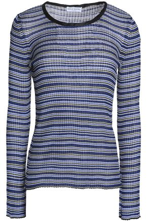 SONIA RYKIEL Striped ribbed stretch-knit sweater