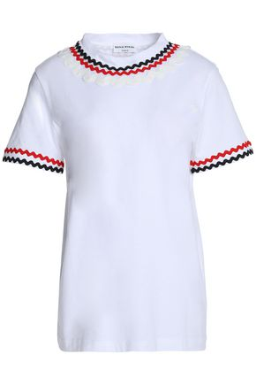 SONIA RYKIEL Rick rack-trimmed cotton-jersey T-shirt