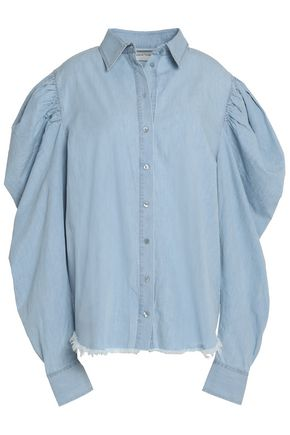 MARQUES ' ALMEIDA Cotton-chambray top