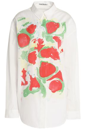 ACNE STUDIOS Printed cotton-poplin shirt