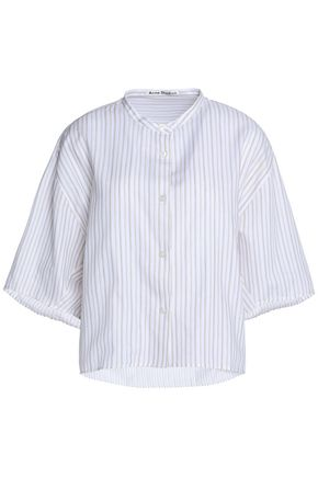 ACNE STUDIOS Striped cotton-poplin shirt