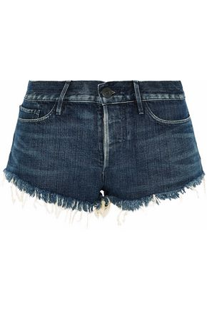 3x1 Frayed faded denim shorts