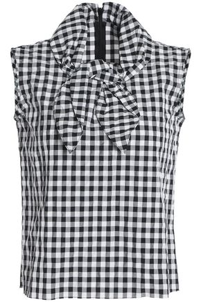 MARQUES ' ALMEIDA Knotted poplin top