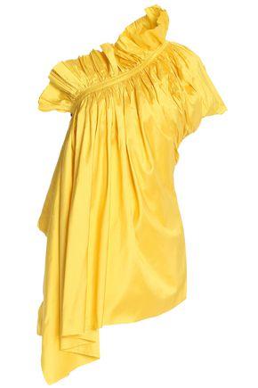 MARQUES ' ALMEIDA Asymmetric draped silk-shantung top