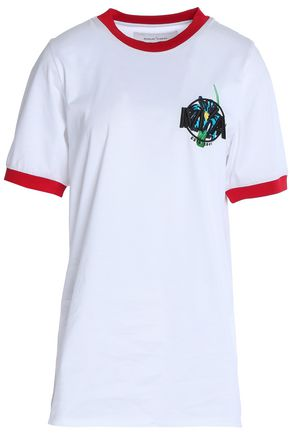 MARQUES ' ALMEIDA Embroidered cotton-jersey T-shirt