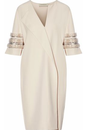 BY MALENE BIRGER Hobbisan wrap-effect embellished cady dress