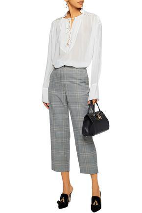 BY MALENE BIRGER Satin-paneled chiffon blouse