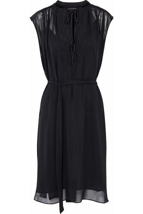 BY MALENE BIRGER Bolisma satin-trimmed chiffon dress