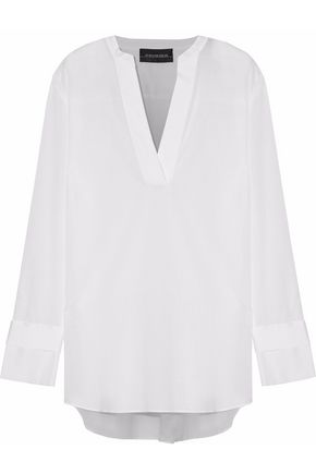 BY MALENE BIRGER Gulana satin-trimmed cotton-gauze tunic