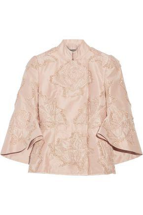 ALEXANDER MCQUEEN Fil coupé silk-blend faille jacket