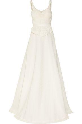 SOPHIA KOKOSALAKI Harmonia matelassé silk-blend gown