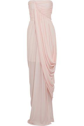 SOPHIA KOKOSALAKI Draped wrap-effect crepe-jersey gown